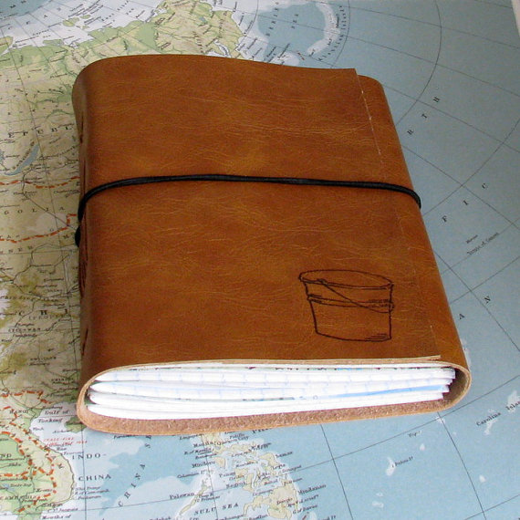 Faux Leather Bucket List Journal