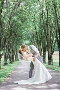 A stolen kiss under the trees