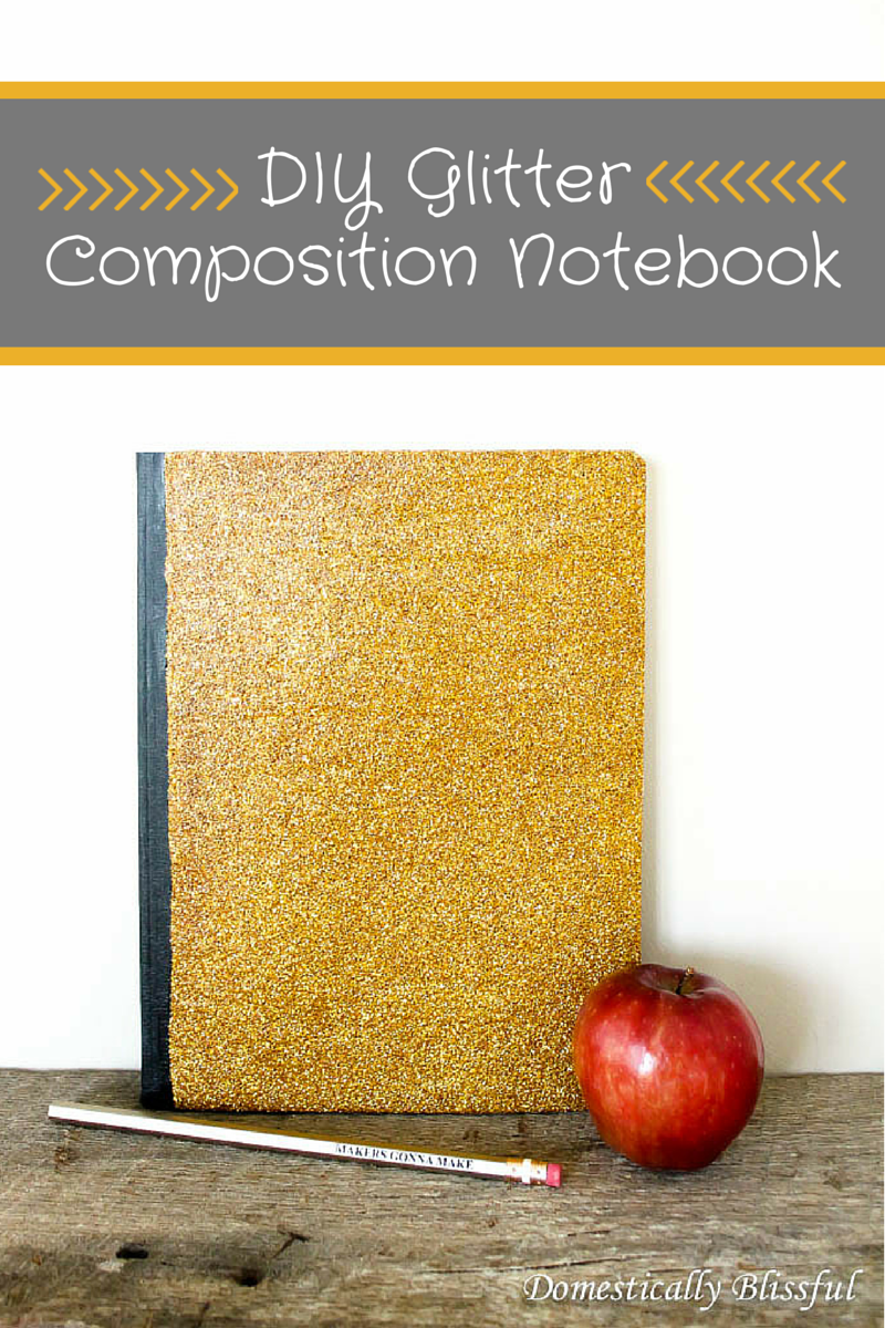 Diy glitter notebook cover - Diy Glitter Composition Notebook