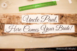 DIY Wood Sign for Wedding Ceremony