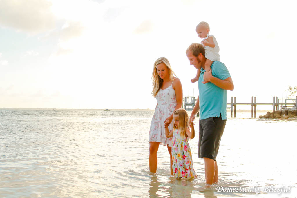 Photos of Family on Beach