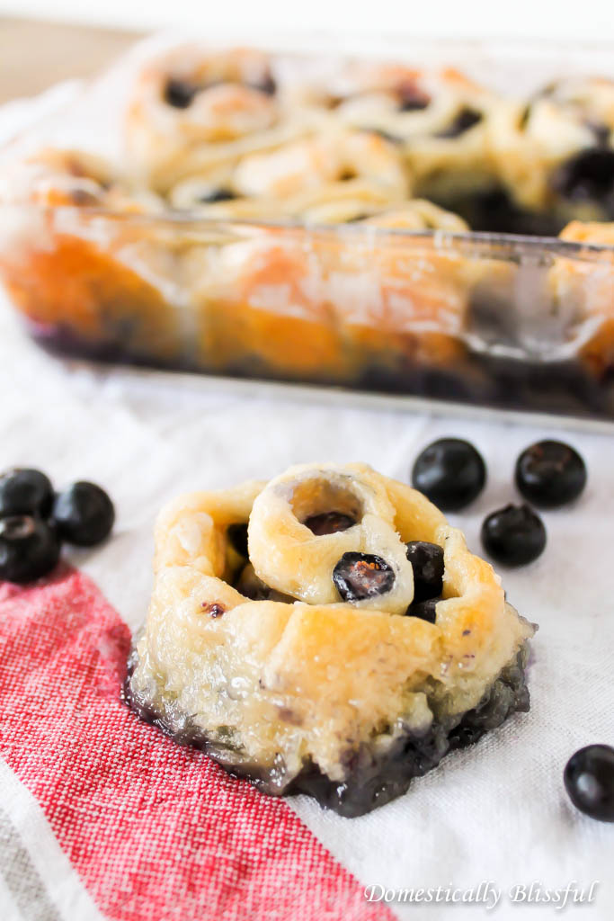 Lazy Blueberry Sweet Rolls