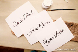 Print Words for DIY Here Comes Your Bride Sign