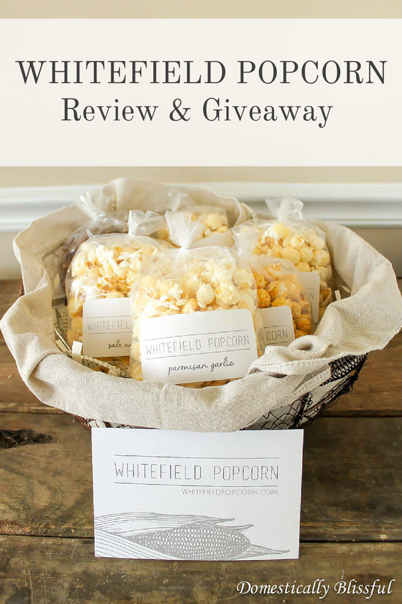 WHITEFIELD POPCORN Review & Giveaway