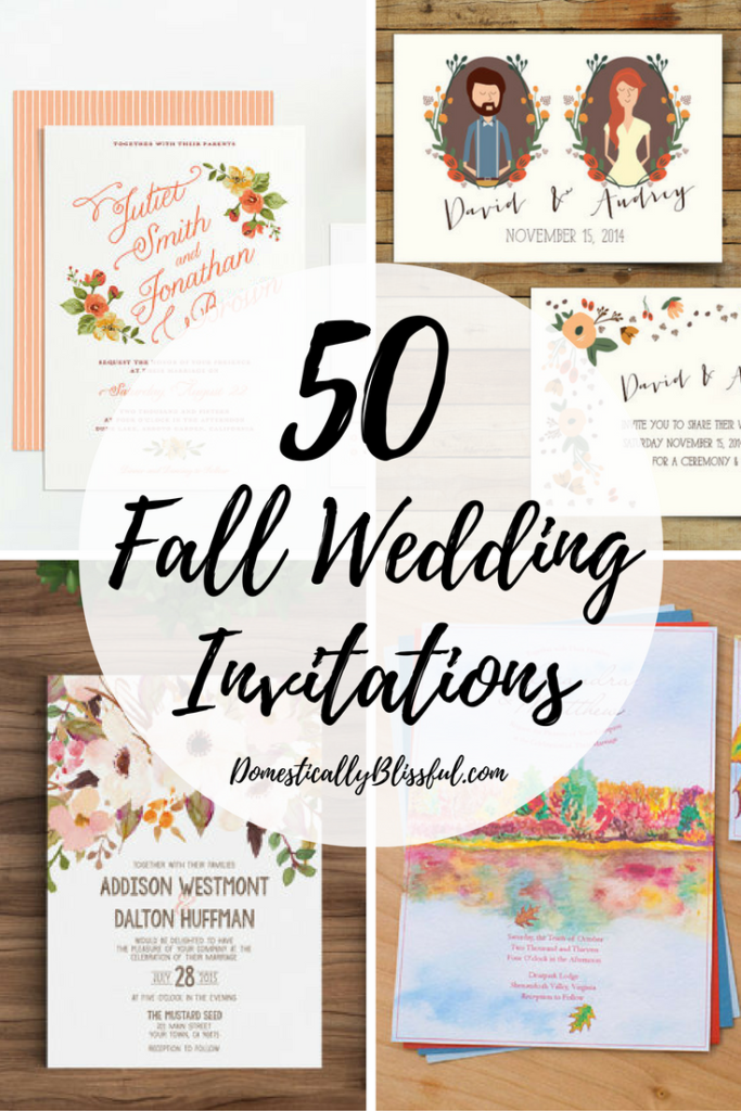 50 Fall Wedding Invitations to inspire & delight your guests as they plan for your special wedding day.