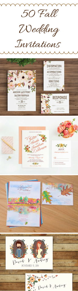50 Fall Wedding Invitations