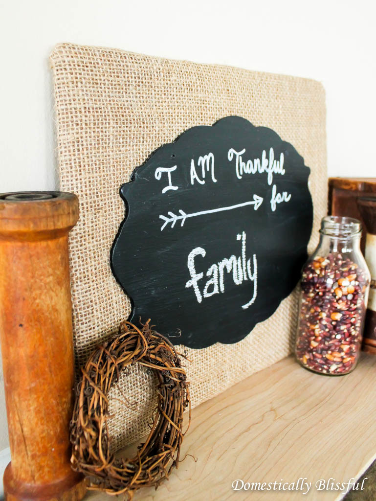 Burlap Canvas Fall Chalkboard