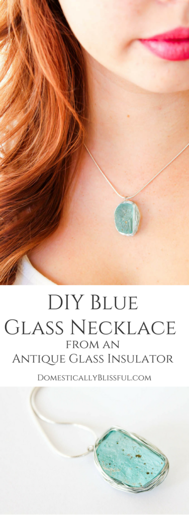 This DIY Blue Glass Necklace from an Antique Glass Insulator holds many memories of Ohio & my husband's family that I will forever cherish near my heart.