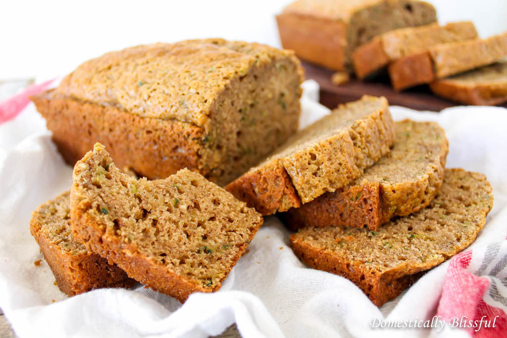A Homemade Zucchini Bread Recipe that is simple, moist, & absolutely delicious!