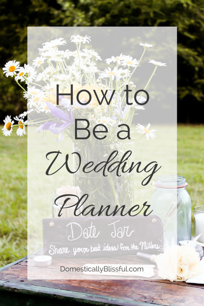 How to Be a Wedding Planner
