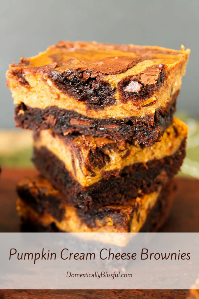 These Pumpkin Cream Cheese Brownies melt in your mouth & fill your home with the delicious scent of fall!
