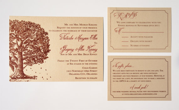 Falling in Love Wedding Invitations