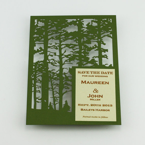 Woodland Lasercut Save the Date