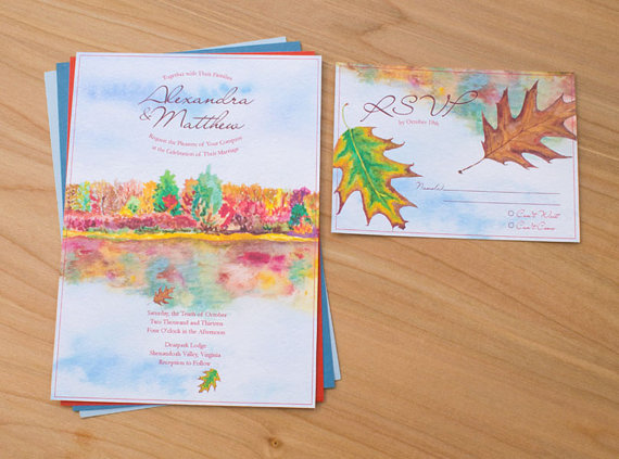 Autumn Reflections Invitation