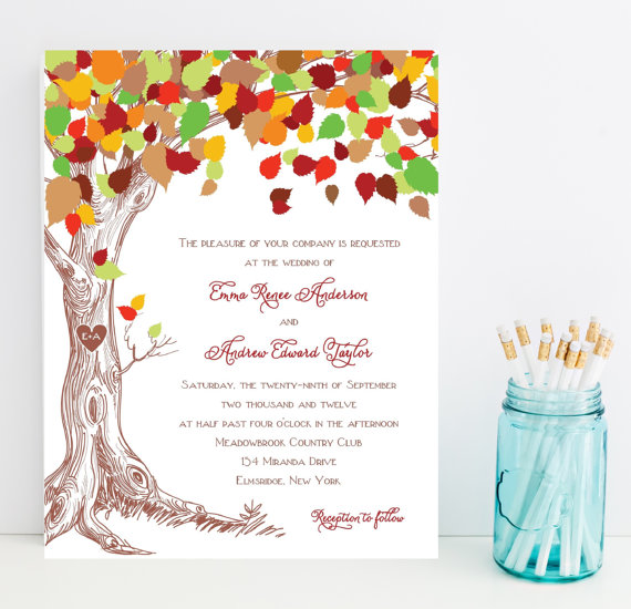 Woodland Wedding Invitations