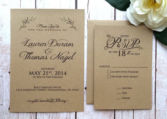 Wedding Invitation Wording Ideas: 50 Fall Wedding Invitations