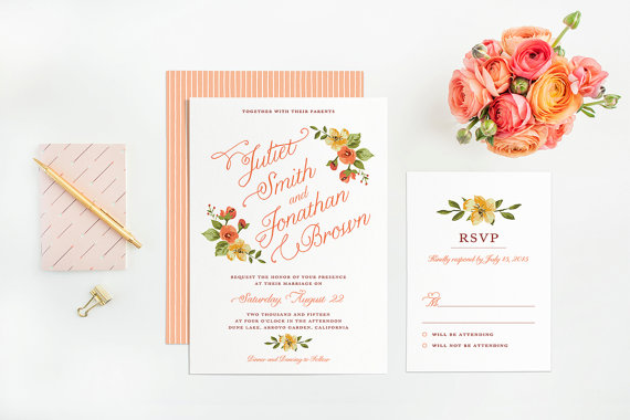 Printable Woodland Wedding Invitations