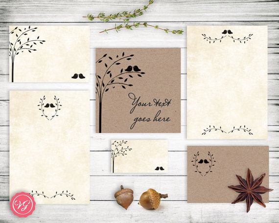 DIY Rustic Tree Wedding Invitation