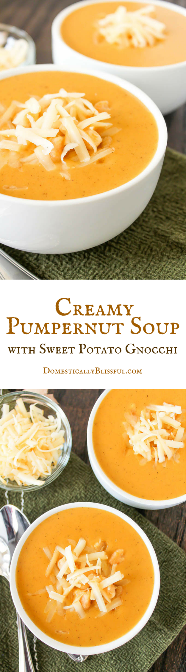 Creamy Pumpernut Soup recipe by Domestically Blissful
