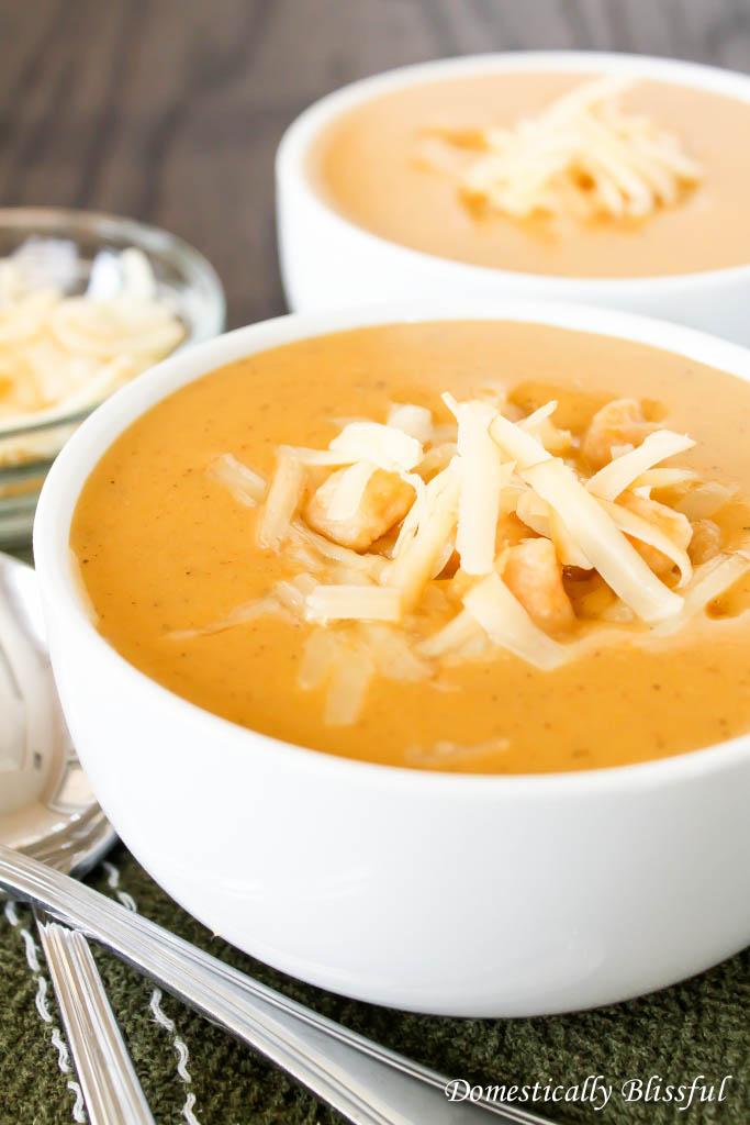 Creamy Pumpernut Soup with sweet potato gnocchi