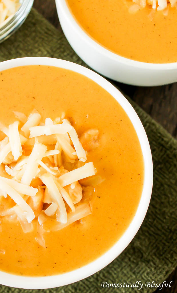 Creamy Pumpernut Soup with sweet potatoes and squash