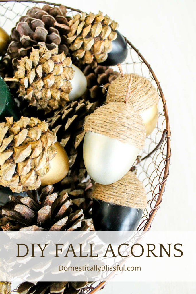 DIY Fall Acorns