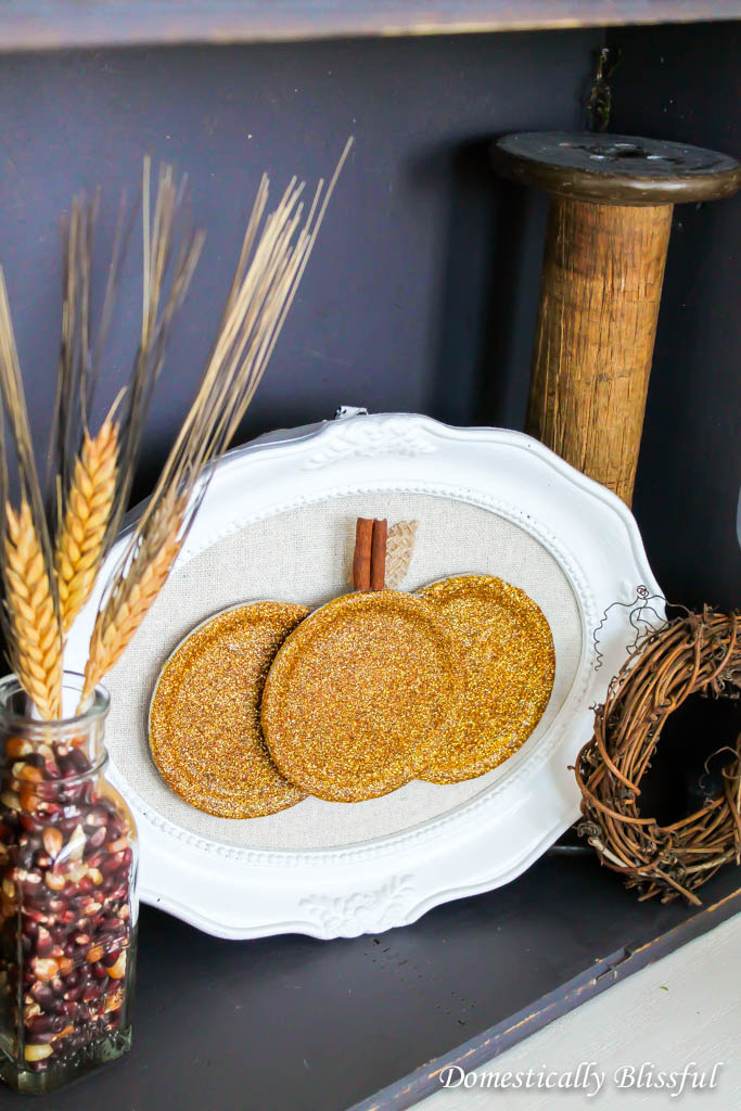 DIY Mason Jar Lid Pumpkin
