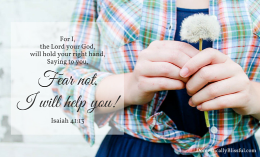 Fear not, I will help you! Isaiah 41:13