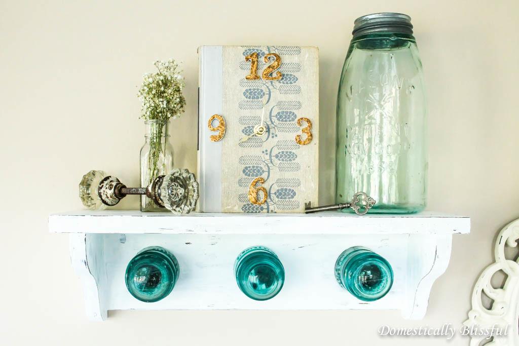 Glass Insulator Coat Rack Shelf