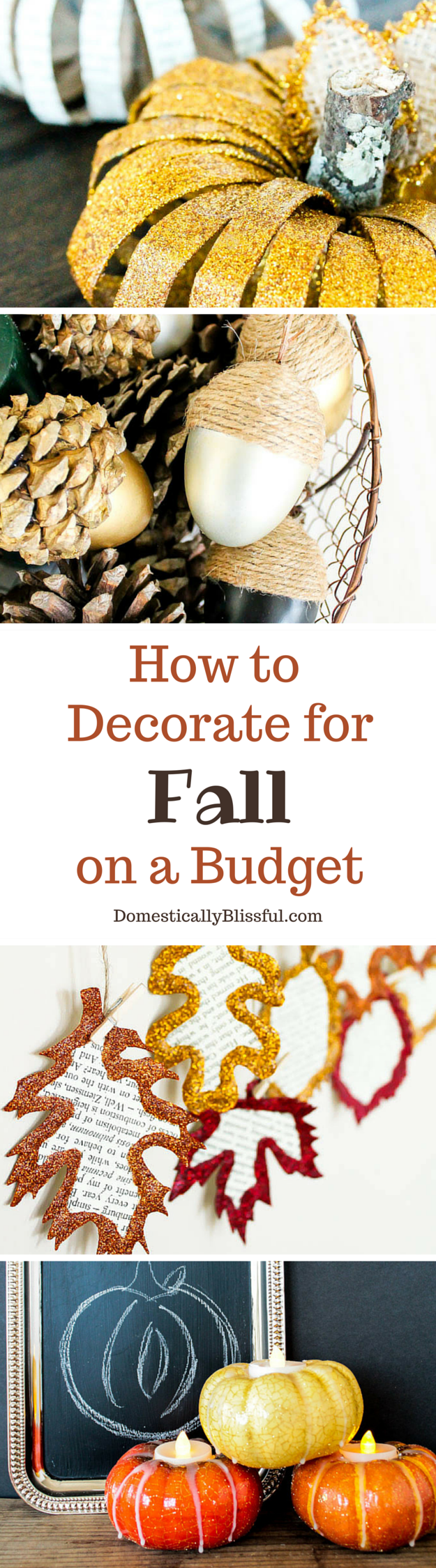 How to decorate for fall on a budget - 5 Tips from Domestically Blissful