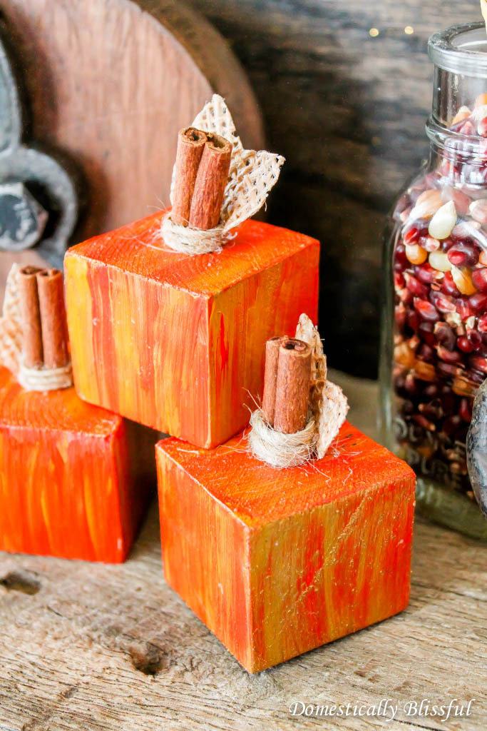 Mini Block Faux Pumpkins