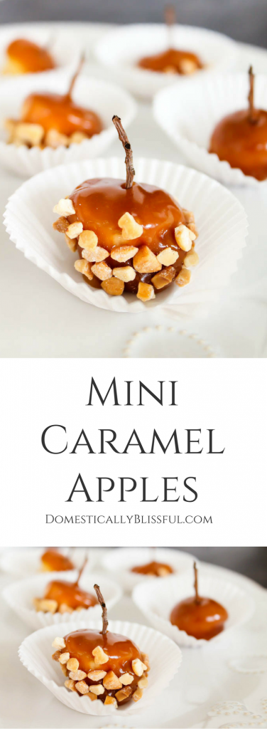 Mini Caramel Apples are a fun treat for fall family parties!
