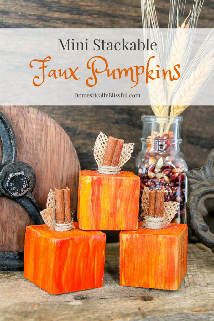 Mini Stackable Faux Pumpkins