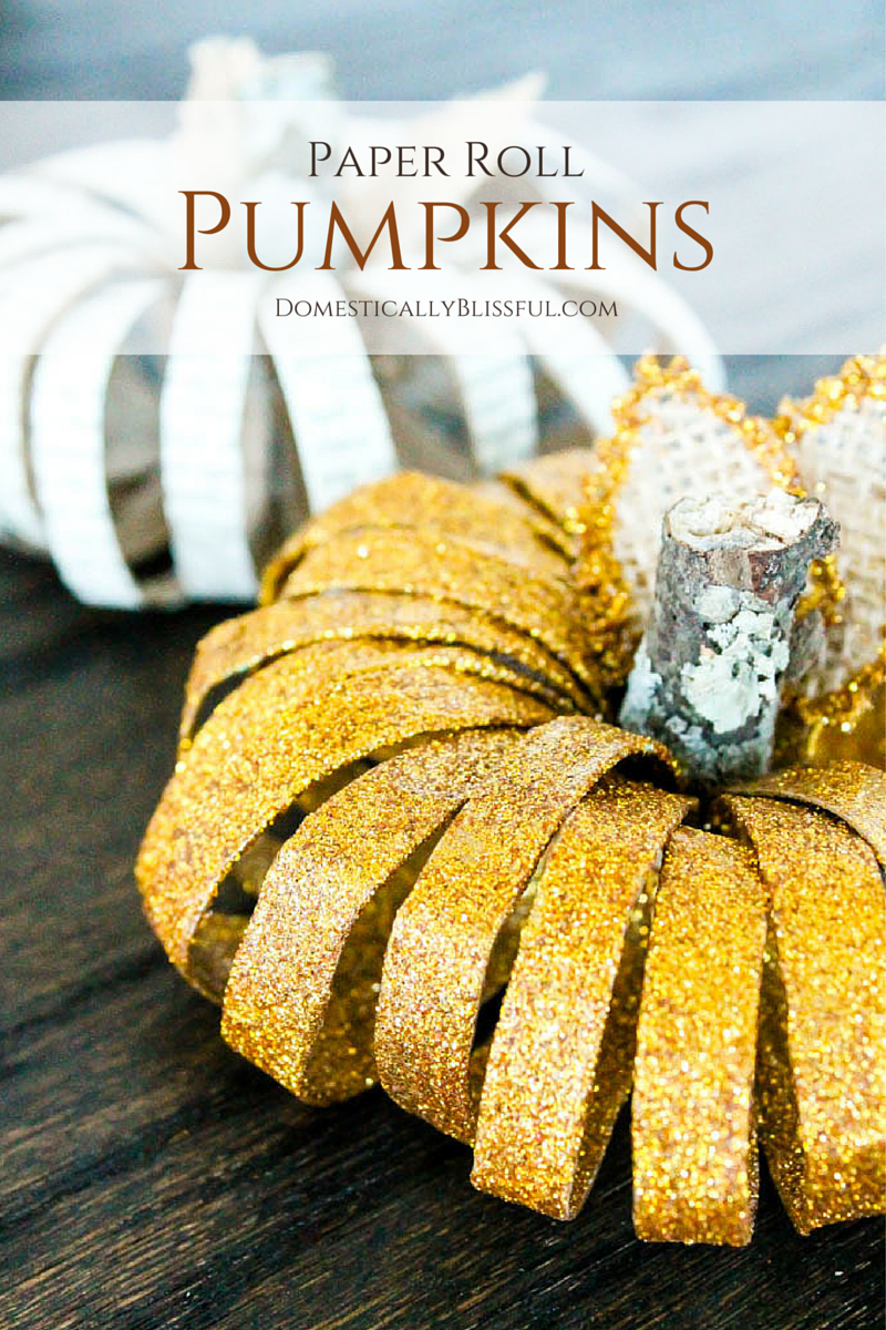 DIY Paper Roll Pumpkins