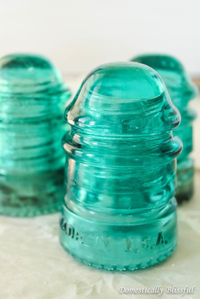 Small Antique Glass Insulators