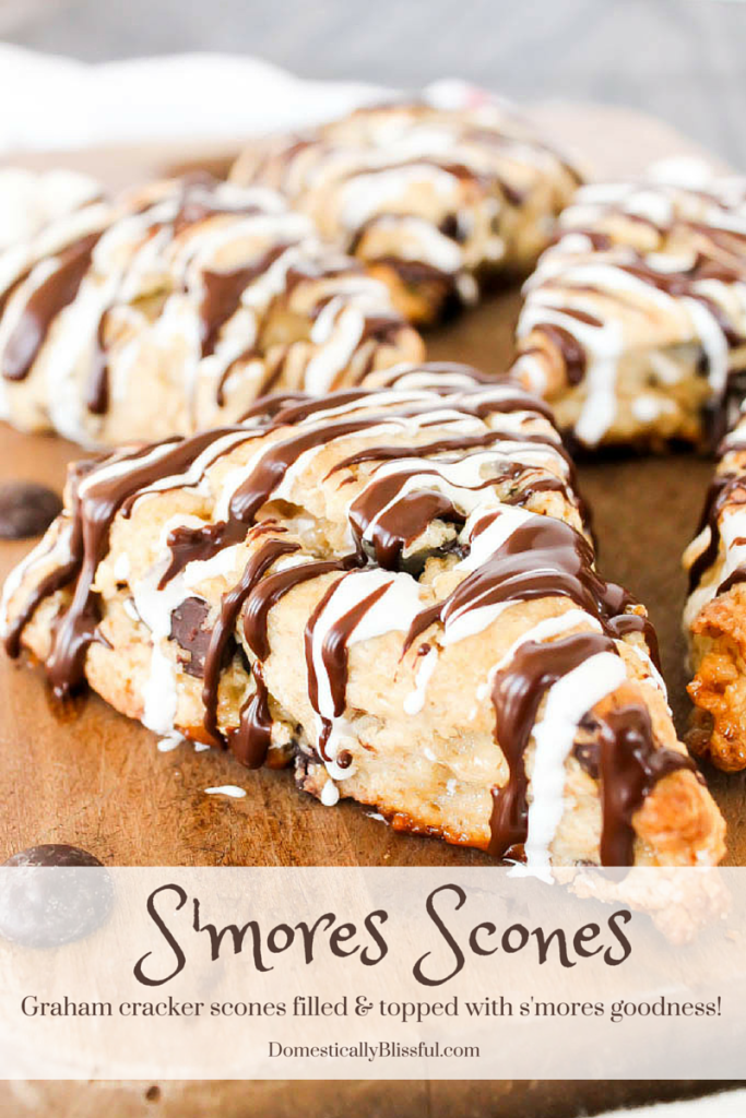 These aren't your average S'mores Scones! These are graham cracker scones filled with sweet pockets of marshmallows & melted chocolate!