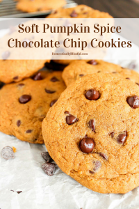 Soft Pumpkin Spice Chocolate Chip Cookies