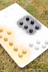 Spray paint easter eggs
