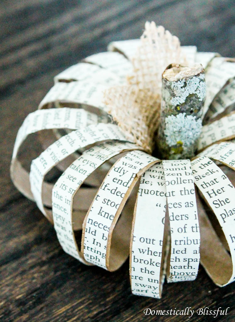 Paper Roll Pumpkin with Book Paper