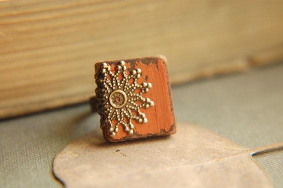 Cottage Chic Pumpkin Spice Ring