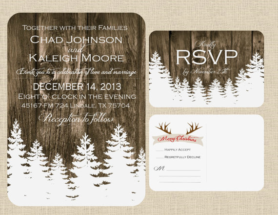 Christmas Winter Wedding Invitation
