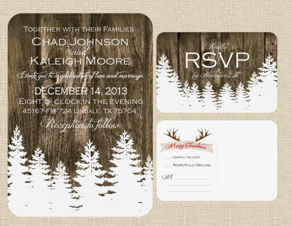 Christmas Winter Wedding Invitation