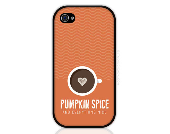 Pumpkin Spice Latte iPhone and iPod Case