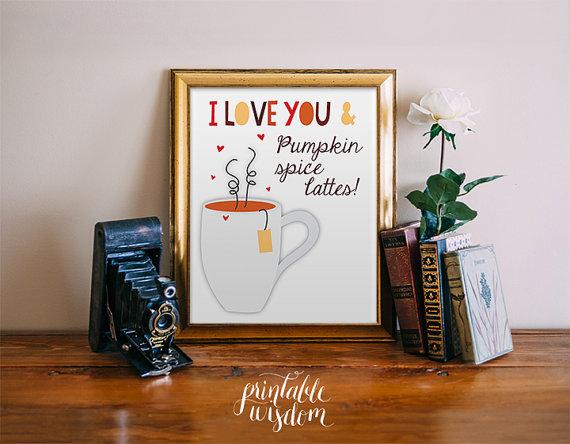 Pumpkin Spice Latte Fall Printable