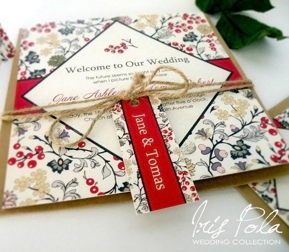 Christmas Wedding Invitation Set