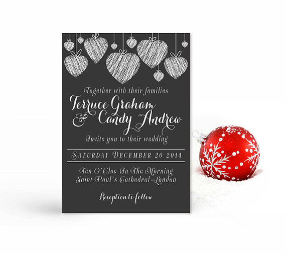 Christmas Wedding Invitation Printable