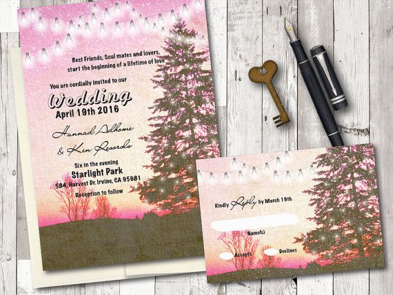 Rustic Romantic Christmas Pine Trees