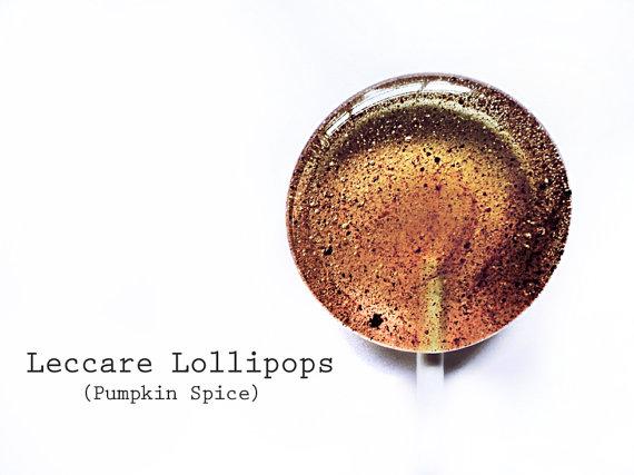 Pumpkin Spice Lollipops