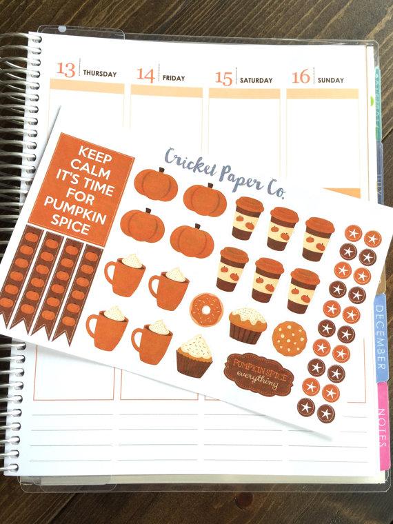 Pumpkin Spice Planner Stickers