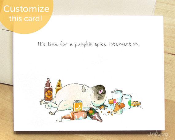 Pumpkin Spice Intervention Card